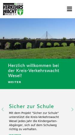 Vorschau der mobilen Webseite www.kreis-verkehrswacht-wesel.de, Kreis-Verkehrswacht Wesel e.V.