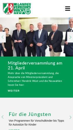 Vorschau der mobilen Webseite www.landesverkehrswacht-nrw.de, Landesverkehrswacht Nordrhein-Westfalen e.V.