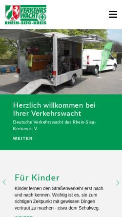 Vorschau der mobilen Webseite www.verkehrswacht-rhein-sieg.de, Verkehrswacht des Rhein-Sieg-Kreises e.V.