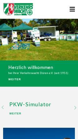 Vorschau der mobilen Webseite www.verkehrswacht-dueren.de, Verkehrswacht Düren e.V.