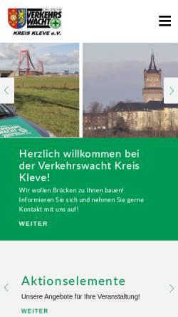 Vorschau der mobilen Webseite www.verkehrswacht-kleve.de, Verkehrswacht Kreis Kleve e.V.