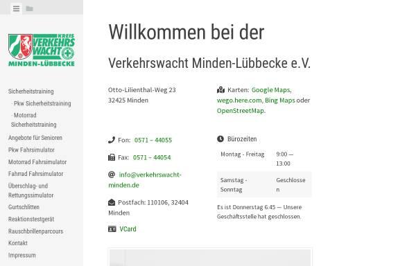 Vorschau von www.verkehrswacht-minden.de, Verkehrswacht Minden-Lübbecke e.V.
