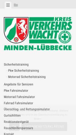 Vorschau der mobilen Webseite www.verkehrswacht-minden.de, Verkehrswacht Minden-Lübbecke e.V.