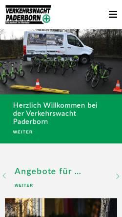 Vorschau der mobilen Webseite www.verkehrswacht-paderborn.de, Verkehrswacht Paderborn e.V.