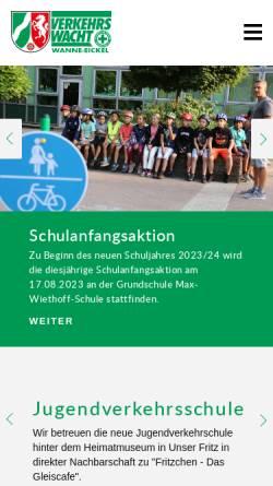 Vorschau der mobilen Webseite www.verkehrswacht-wanne-eickel.de, Verkehrswacht Wanne-Eickel e.V.