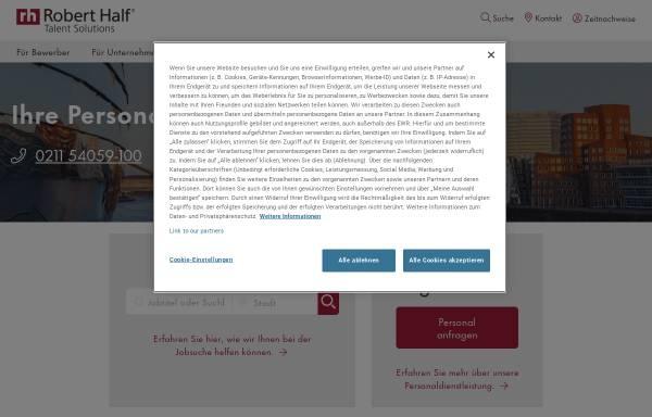 Vorschau von www.roberthalf.de, Robert Half Deutschland GmbH & Co. KG
