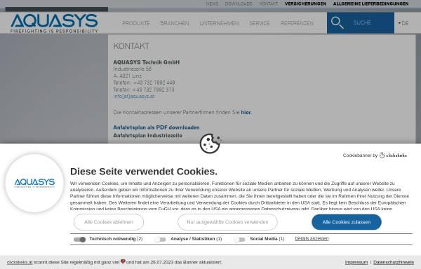 Vorschau von www.aquasys.at, Aquasys Technik GmbH