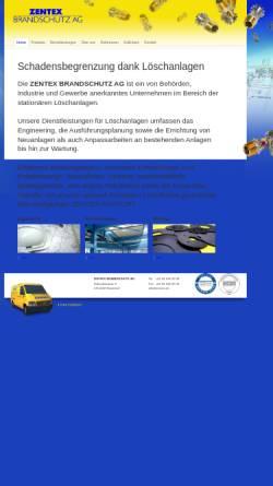 Vorschau der mobilen Webseite www.zentex.ch, Zentex AG