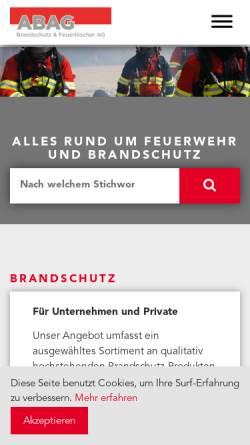 Vorschau der mobilen Webseite www.abag-brandschutz.ch, ABAG Brandschutz & Feuerlöscher AG