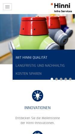 Vorschau der mobilen Webseite www.hinni.ch, Hinni AG