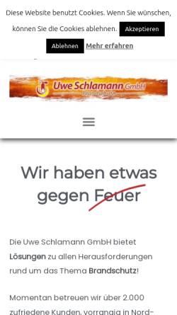Vorschau der mobilen Webseite www.schlamann-gmbh.de, Uwe Schlamann GmbH