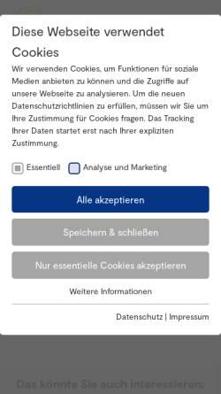 Vorschau der mobilen Webseite www.kulturfoerderung.org, Deutsche Informationszentrum Kulturförderung (DIZK)