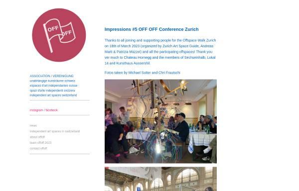 Vorschau von www.offoff.ch, OFFOFF - unabhängige Kunsträume der Schweiz