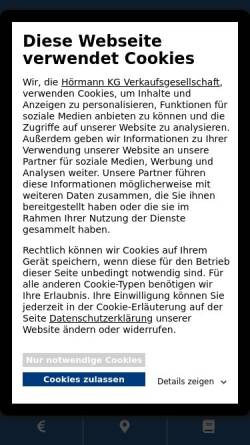 Vorschau der mobilen Webseite www.hoermann.de, Hörmann KG