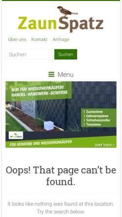 Vorschau der mobilen Webseite www.zaunspatz.de, Zaunspatz