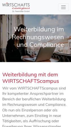 Vorschau der mobilen Webseite www.frs-steuer.de, Fachakademie für Rechnungslegung und Steuerrecht Dr. Peemöller / Dr. Reis GmbH