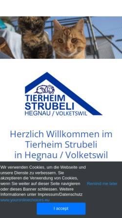 Vorschau der mobilen Webseite www.strubeli.ch, Tierheim Strubeli