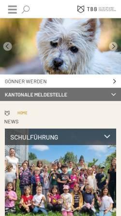 Vorschau der mobilen Webseite www.tbb.ch, Tierschutz beider Basel