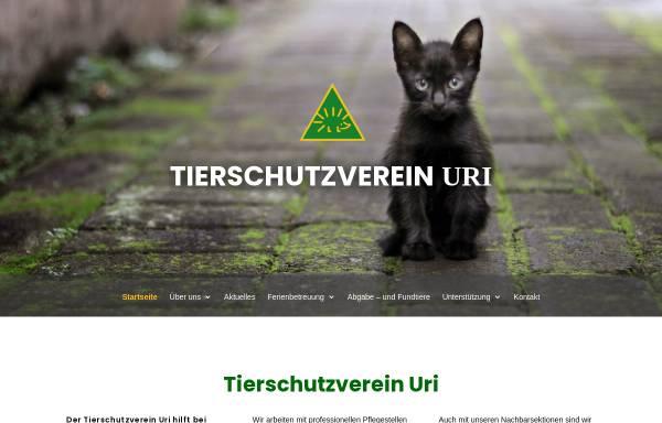 Vorschau von www.tierschutzverein-uri.ch, Tierschutzverein Uri