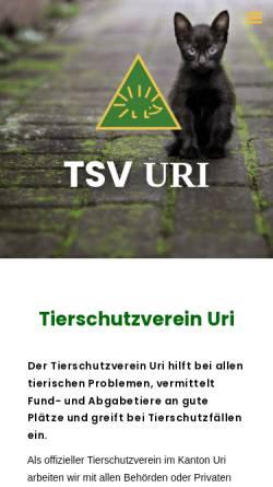 Vorschau der mobilen Webseite www.tierschutzverein-uri.ch, Tierschutzverein Uri