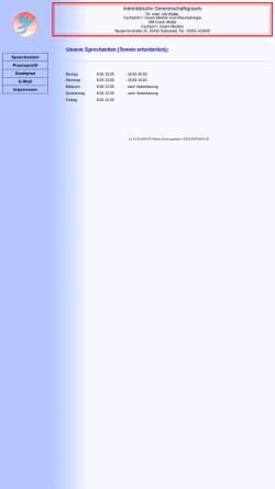 Vorschau der mobilen Webseite www.praxis-walter.de, Dipl.-Med. F.Walter Facharzt für Innere Medizin und Rheumatologe