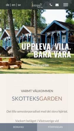 Vorschau der mobilen Webseite www.skottek.se, Skottek Gården