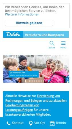 Vorschau der mobilen Webseite www.debeka.de, Debeka-Gruppe