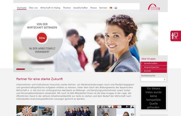 Vorschau von www.bbw.de, Bildungswerk der Bayerischen Wirtschaft e.V.
