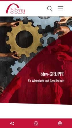 Vorschau der mobilen Webseite www.bbw.de, Bildungswerk der Bayerischen Wirtschaft e.V.