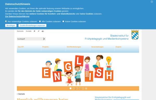 Vorschau von www.ifp.bayern.de, IFP - Staatsinstitut für Frühpädagogik
