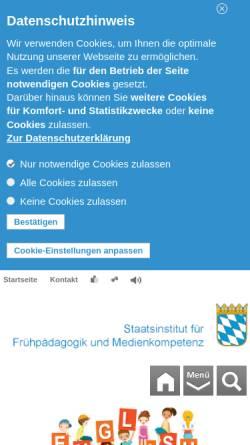 Vorschau der mobilen Webseite www.ifp.bayern.de, IFP - Staatsinstitut für Frühpädagogik
