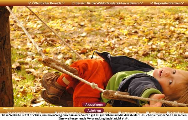 Vorschau von www.waldorfkindergarten-bayern.de, Internationale Vereinigung der Waldorfkindergärten e.V. - Region Bayern