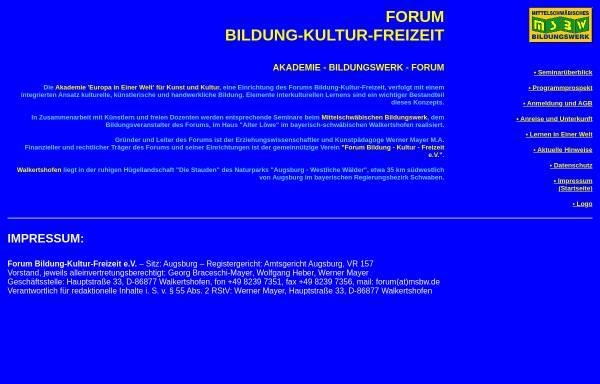Vorschau von www.bildungswerk-msbw.de, Mittelschwäbisches Bildungswerk