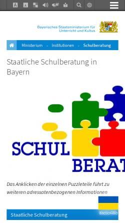 Vorschau der mobilen Webseite www.schulberatung.bayern.de, Staatliche Schulberatung