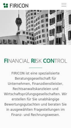 Vorschau der mobilen Webseite www.firicon.de, FIRICON GmbH