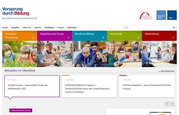 Vorschau von www.bildunginbayern.de, Vorsprung durch Bildung