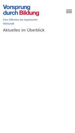 Vorschau der mobilen Webseite www.bildunginbayern.de, Vorsprung durch Bildung
