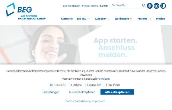 Vorschau von beg.bahnland-bayern.de, Bayerische Eisenbahngesellschaft mbH