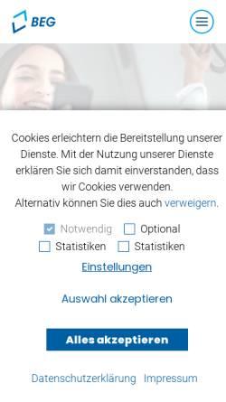 Vorschau der mobilen Webseite beg.bahnland-bayern.de, Bayerische Eisenbahngesellschaft mbH