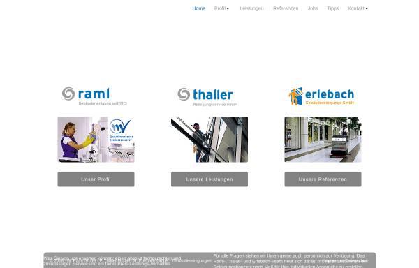 Vorschau von www.raml-thaller.de, Oberbayerischer Firmenverbund für Gebäudereinigung
