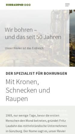 Vorschau der mobilen Webseite www.terrasond.de, Terrasond GmbH & Co. KG