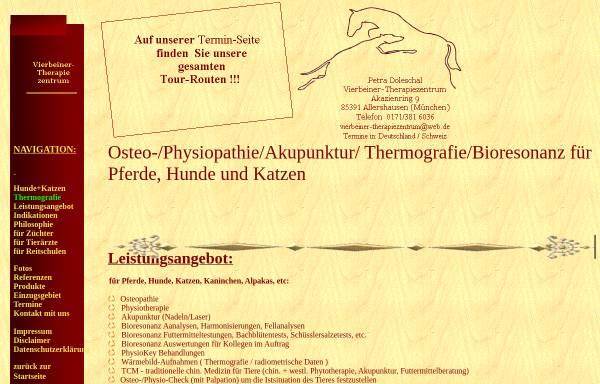 Vorschau von www.pferde-therapiezentrum.de, Doleschal Pferde-Therapiezentrum München