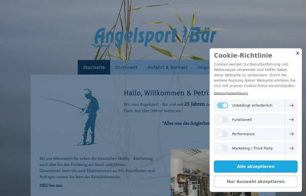 Vorschau von www.angelsport-baer.de, Angelsport Bär