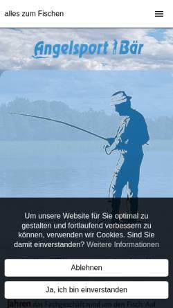 Vorschau der mobilen Webseite www.angelsport-baer.de, Angelsport Bär