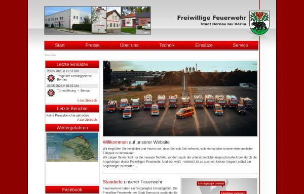Vorschau von www.feuerwehr-bernau.de, Freiwillige Feuerwehr der Stadt Bernau bei Berlin