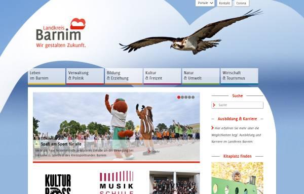 Vorschau von www.barnim.de, Barnim.de