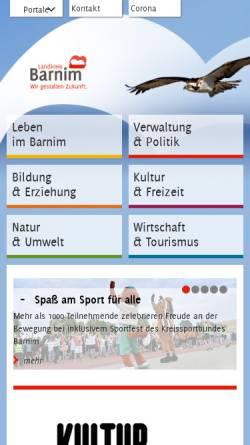 Vorschau der mobilen Webseite www.barnim.de, Barnim.de
