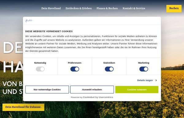 Vorschau von www.havelland-tourismus.de, Reisegebiet Havelland