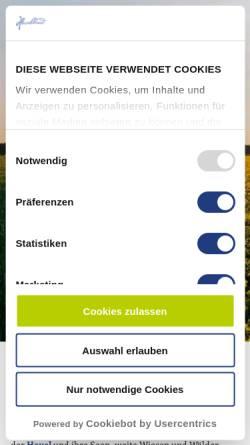 Vorschau der mobilen Webseite www.havelland-tourismus.de, Reisegebiet Havelland