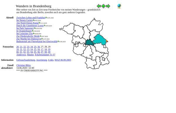 Vorschau von www.wandern-in-brandenburg.de, Wandern in Brandenburg